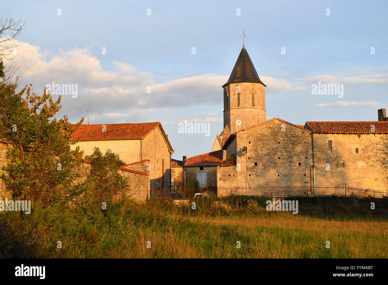 France, Charente, Tusson, on the road of Santiago de Compostela, the village - Stock Image