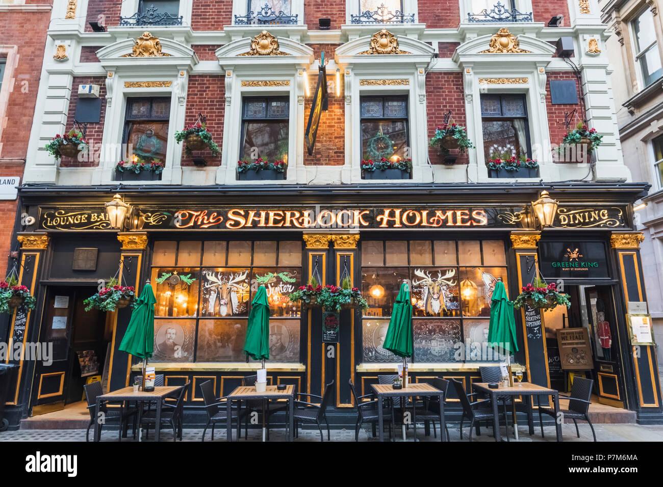 England, London, Embankment, The Sherlock Holmes Pub - Stock Image