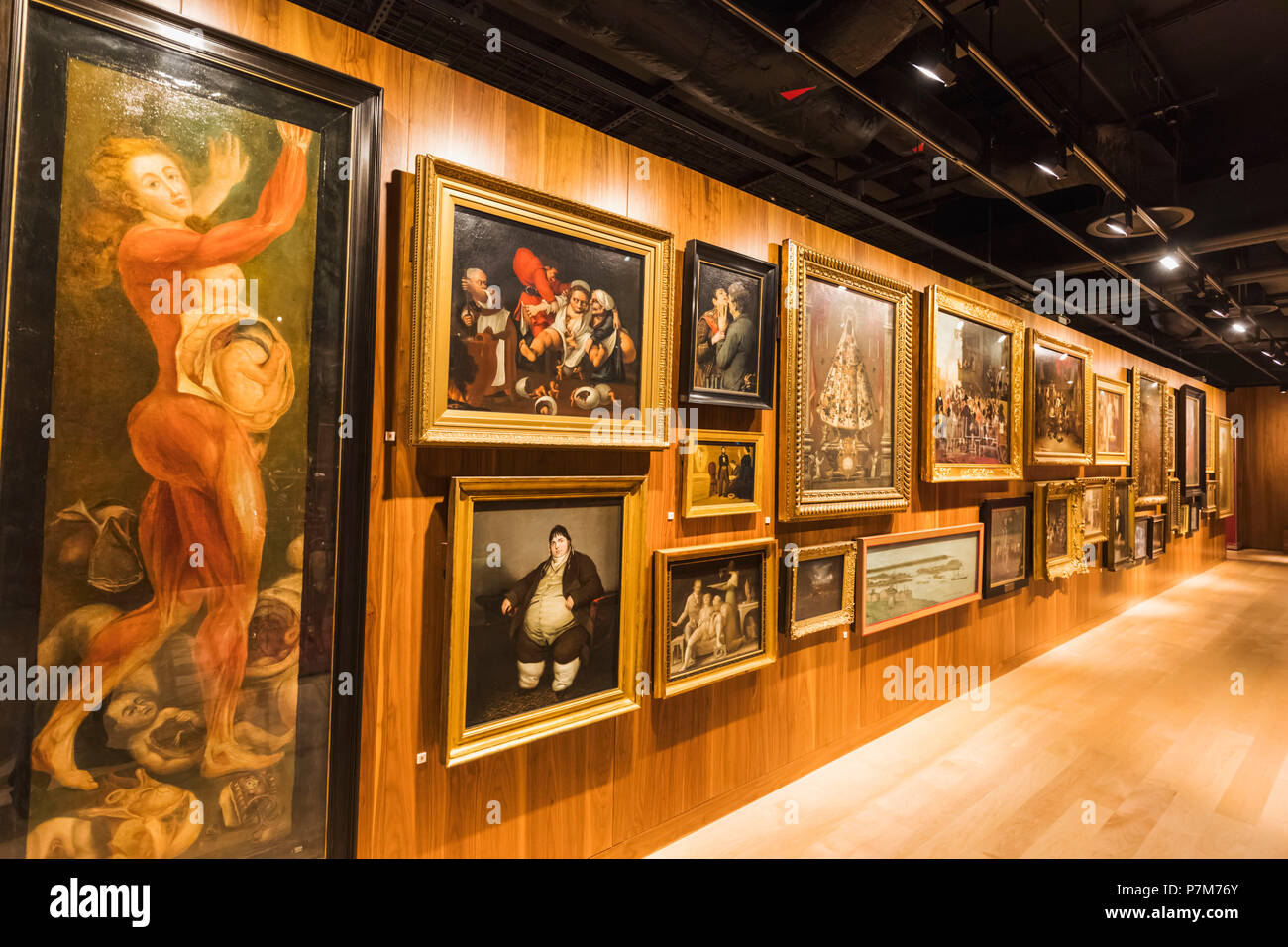 England, London, The Wellcome Collection, Display of Medical Related Artwork - Stock Image