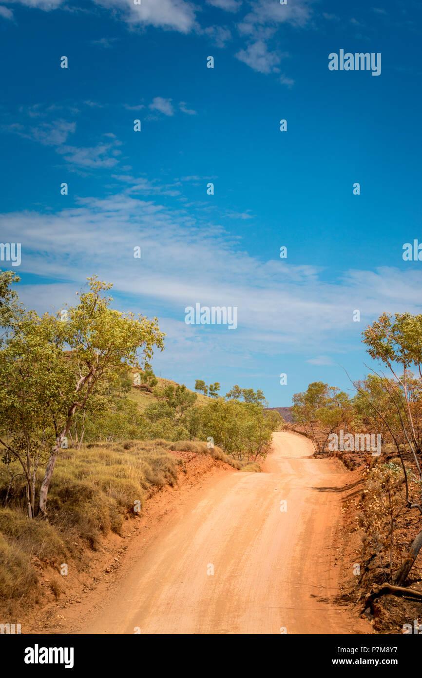 Unpaved road, Kakadu National Park, Northern Territory, Australia - Stock Image