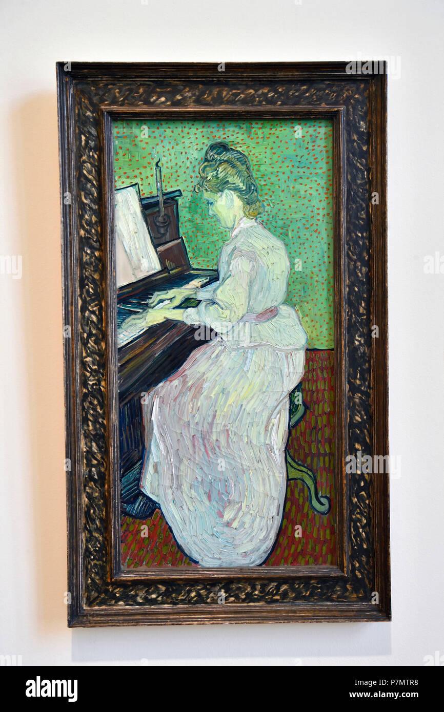 Switzerland, Basel, Museum of Fine Arts Kunstmuseum, Marguerite Machet at the Piano of Vincent Van Gogh Stock Photo