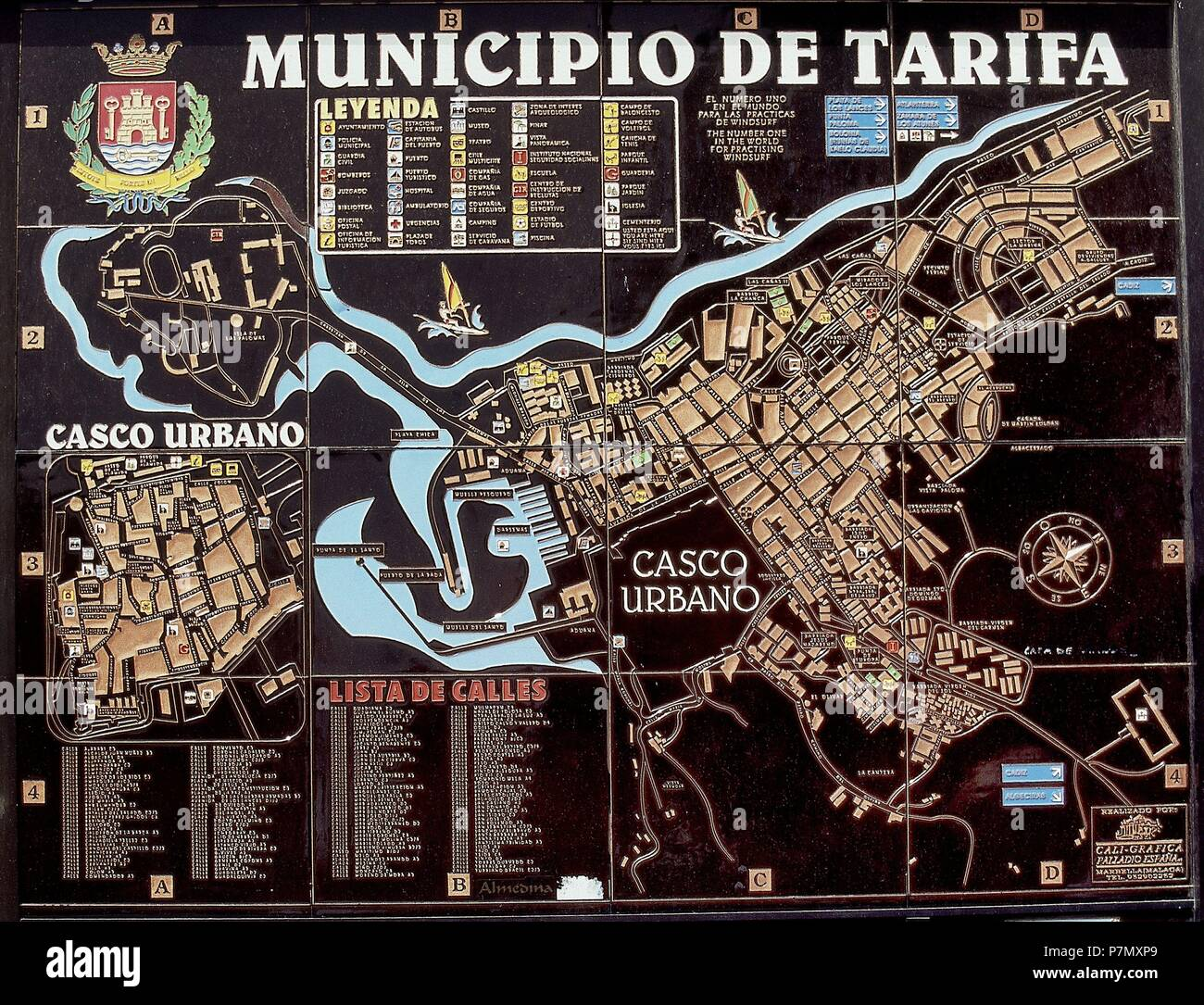 Mapa De Tarifa Cadiz.Plano Del Municipio De Tarifa Location Exterior Cadiz Spain Stock Photo Alamy