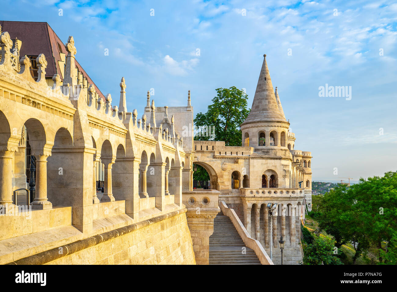 Fisherman's Bastion in Budapest city, Hungary. Stock Photo