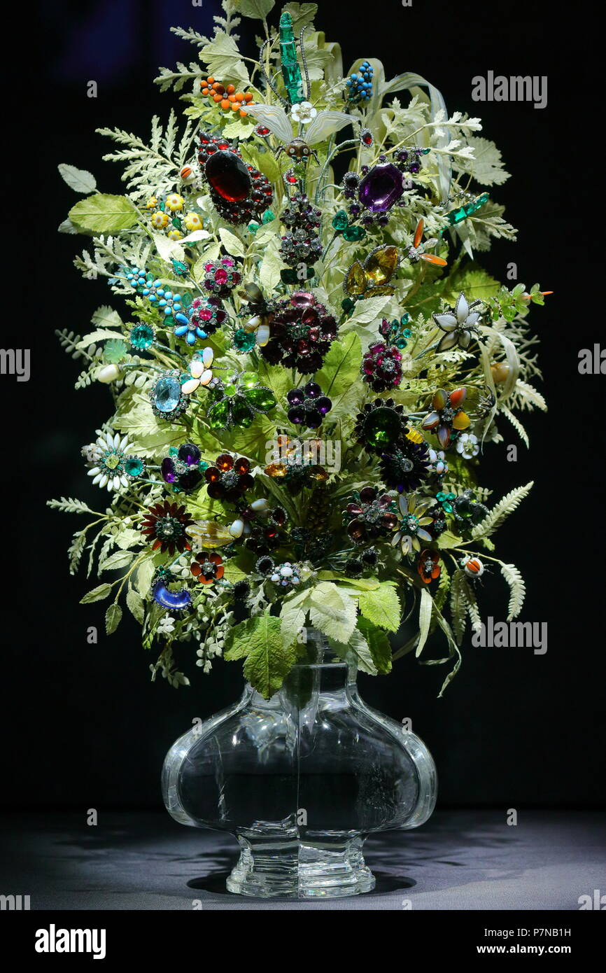 Imperial Flower Bouquet of Precious Stones - Stock Image