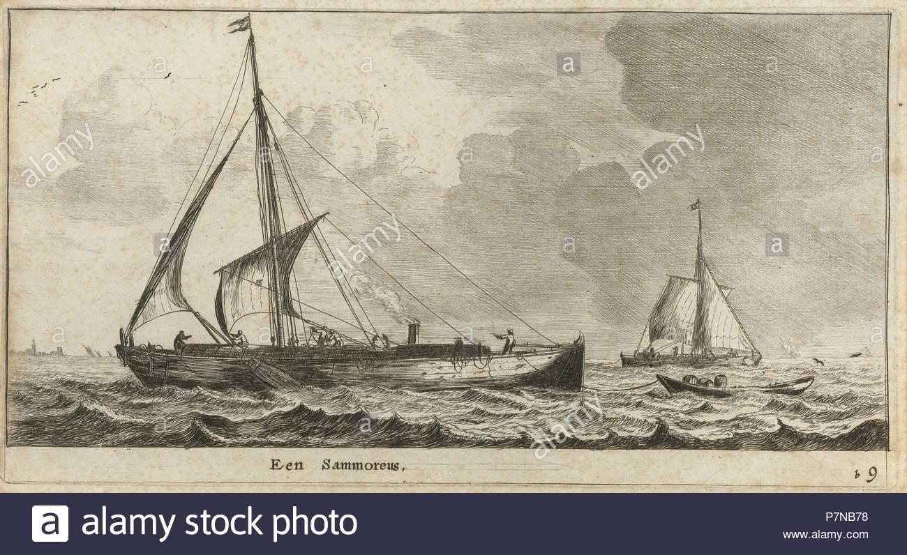 Samoreus, Reinier Nooms, 1652 - 1654. - Stock Image