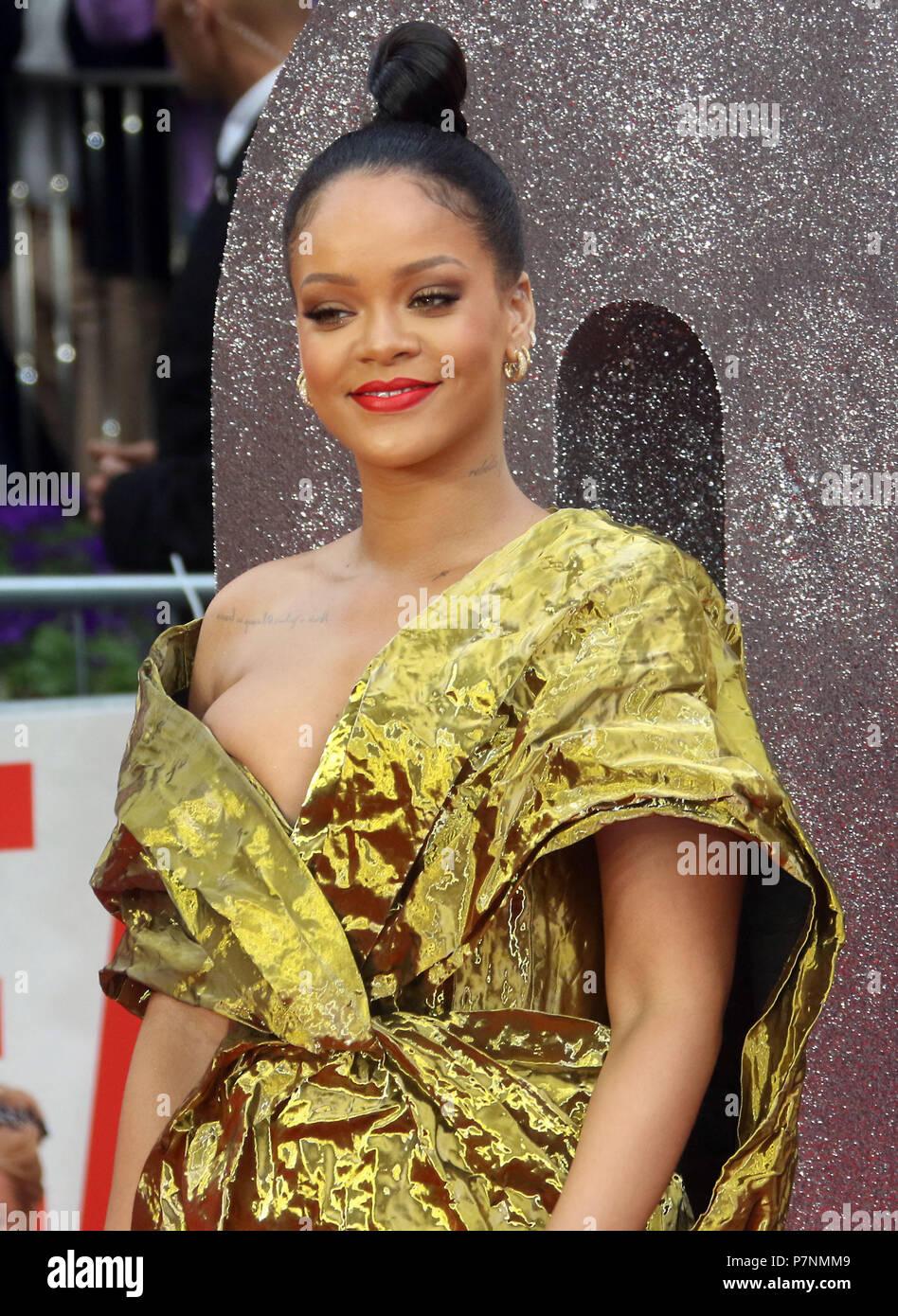 Jun 13, 2018  - Rihanna attending Ocean's 8 European Premiere, Cineworld Leicester Square in London, England, UK - Stock Image