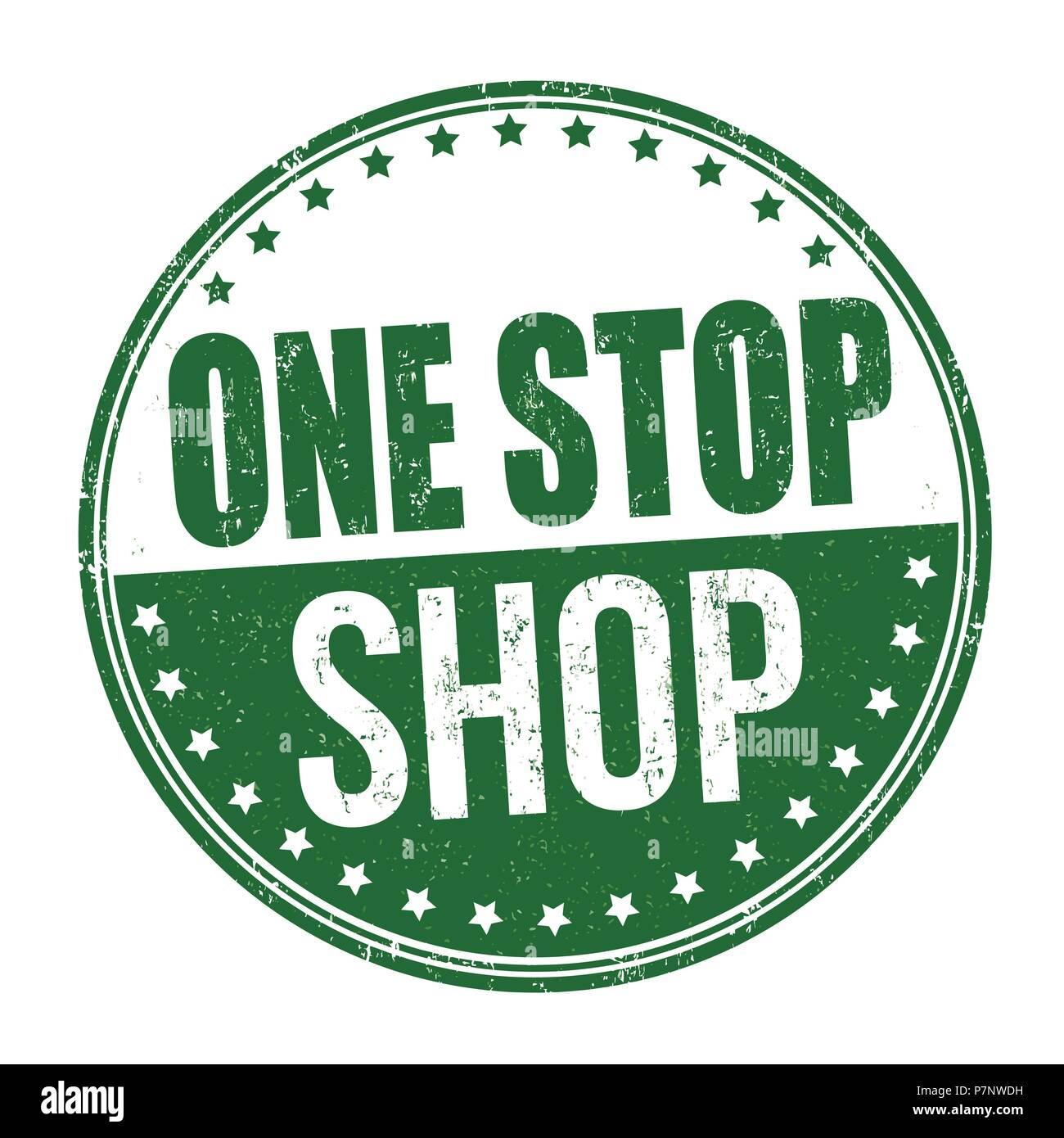 639c45cd5b One stop shop grunge rubber stamp on white background, vector illustration