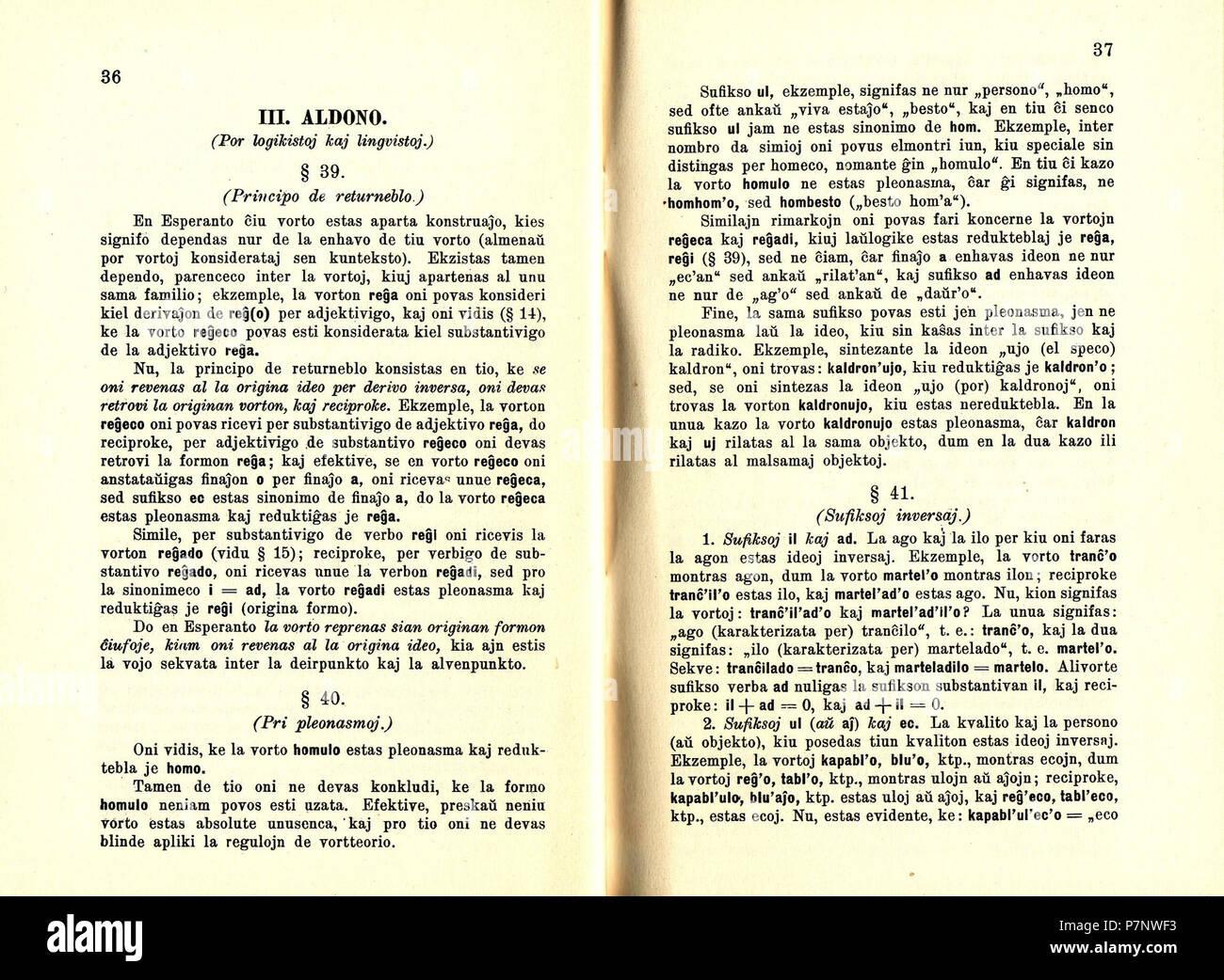 Fundamentaj Reguloj de la Vort-Teorio en Esperanto