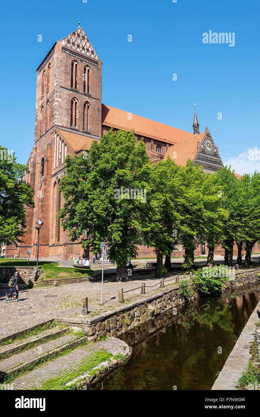 St. Nikolai Church, Wismar, Mecklenburg-Western Pomerania, Germany - Stock Image