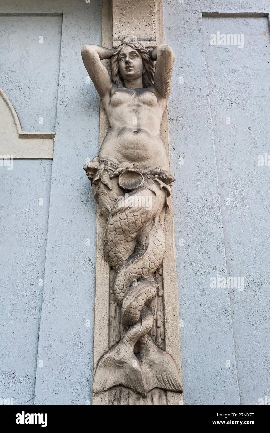 Caryatid at the Künstlerhaus, Munich, Upper Bavaria, Bavaria, Germany - Stock Image