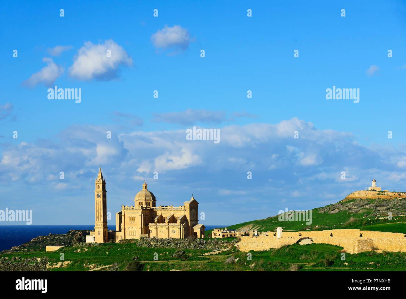 Ta' Pinu Basilica, Gharb, Gozo Island, Malta - Stock Image