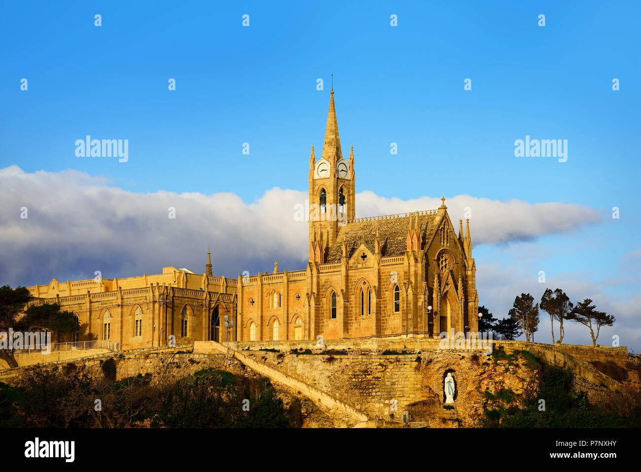 Lourdes Chapel, Mgarr, Gozo, Malta Stock Photo