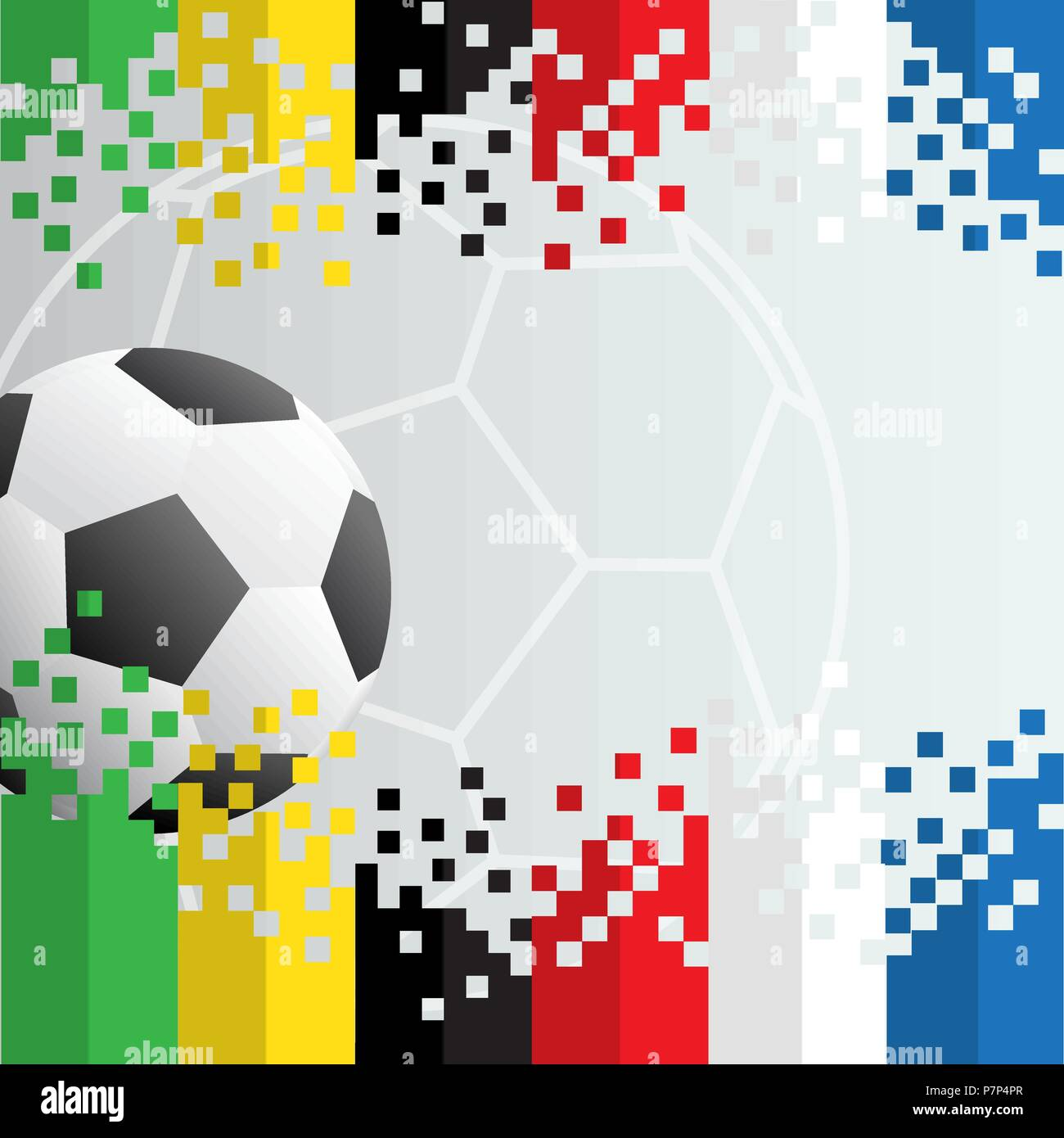 Football background, realistic ball with free copy space. Vector illustration for the soccer championship, games,the stadium, tournament - Stock Vector