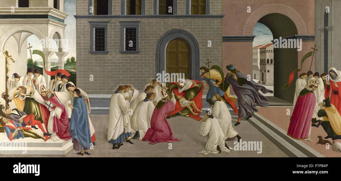 3ZenobiusLondon. Three Miracles of Saint Zenobius - Stock Image