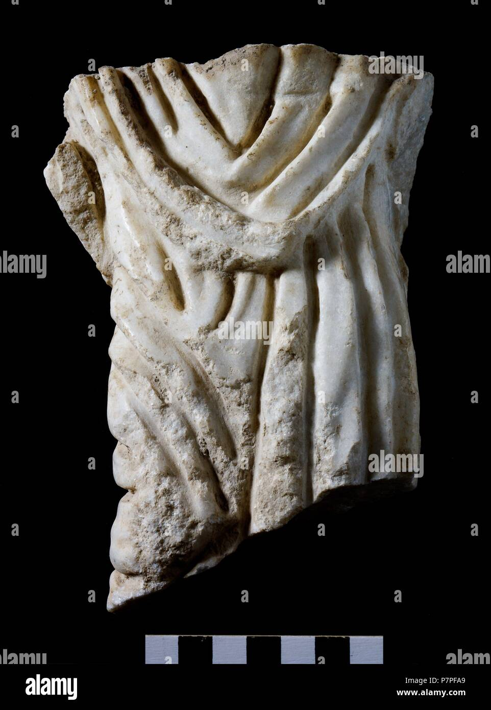 FRAGMENTOS DEL SARCOFAGO DE BEGASTRI. DEPOSITO: MUSEO ARQUEOLOGICO DE CEHEGIN  . MURCIA, ESPAÑA. - Stock Image