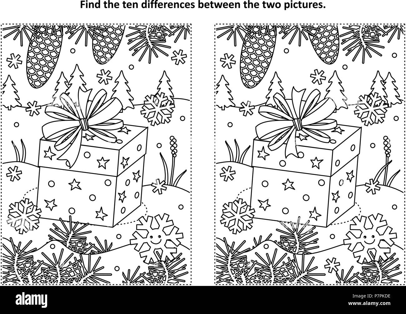 Spot The Difference Adult Puzzle High Resolution Stock Photography And Images Alamy