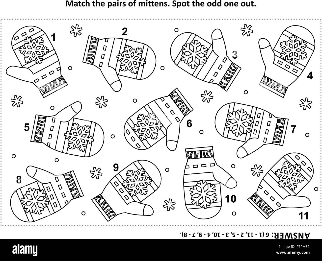 Iq Training Visual Logic Puzzle And Coloring Page With Santa S Or