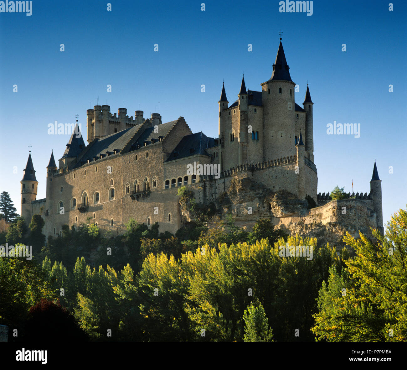 The Alcazar of Segovia, former residence of the Kings of Castile - Stock Image