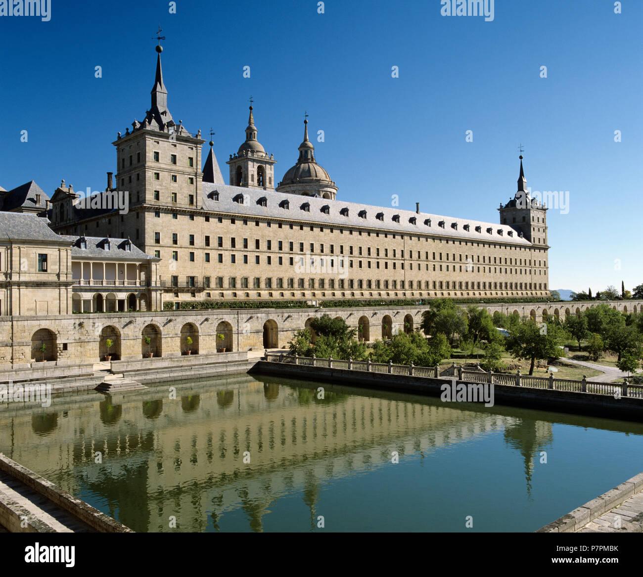 The Monastery of San Lorenzo de El Escorial, Royal Mausoleum created by King Felipe 2nd Stock Photo