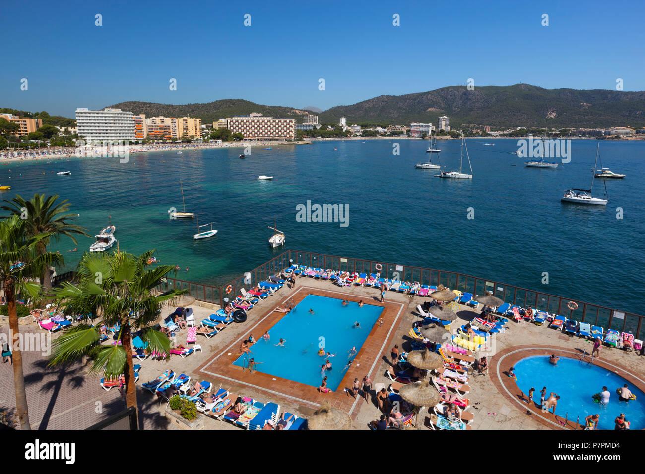 View of Palmanova resort in summer - Stock Image
