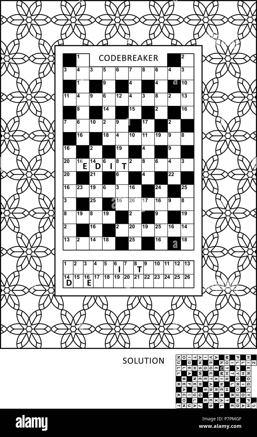 picture regarding Codeword Puzzles Printable referred to as Puzzle and coloring match website page for developed-ups with