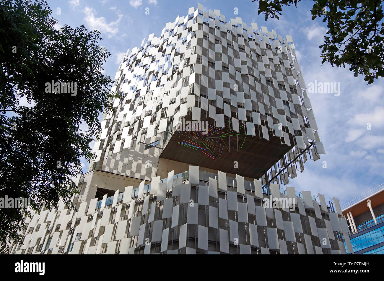 Marseille, the FRAC building, contemporary art centre with a chequered glass facade by Japanese architect Kengo Kuma - Stock Image