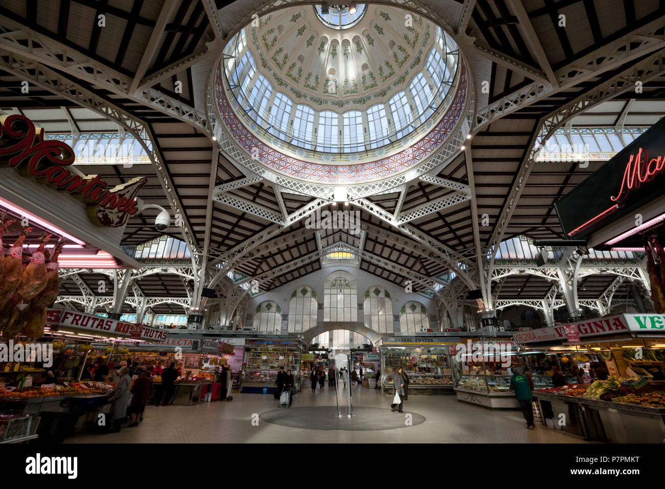 Interior of the Mercato Centrale, built in 1914 - Stock Image