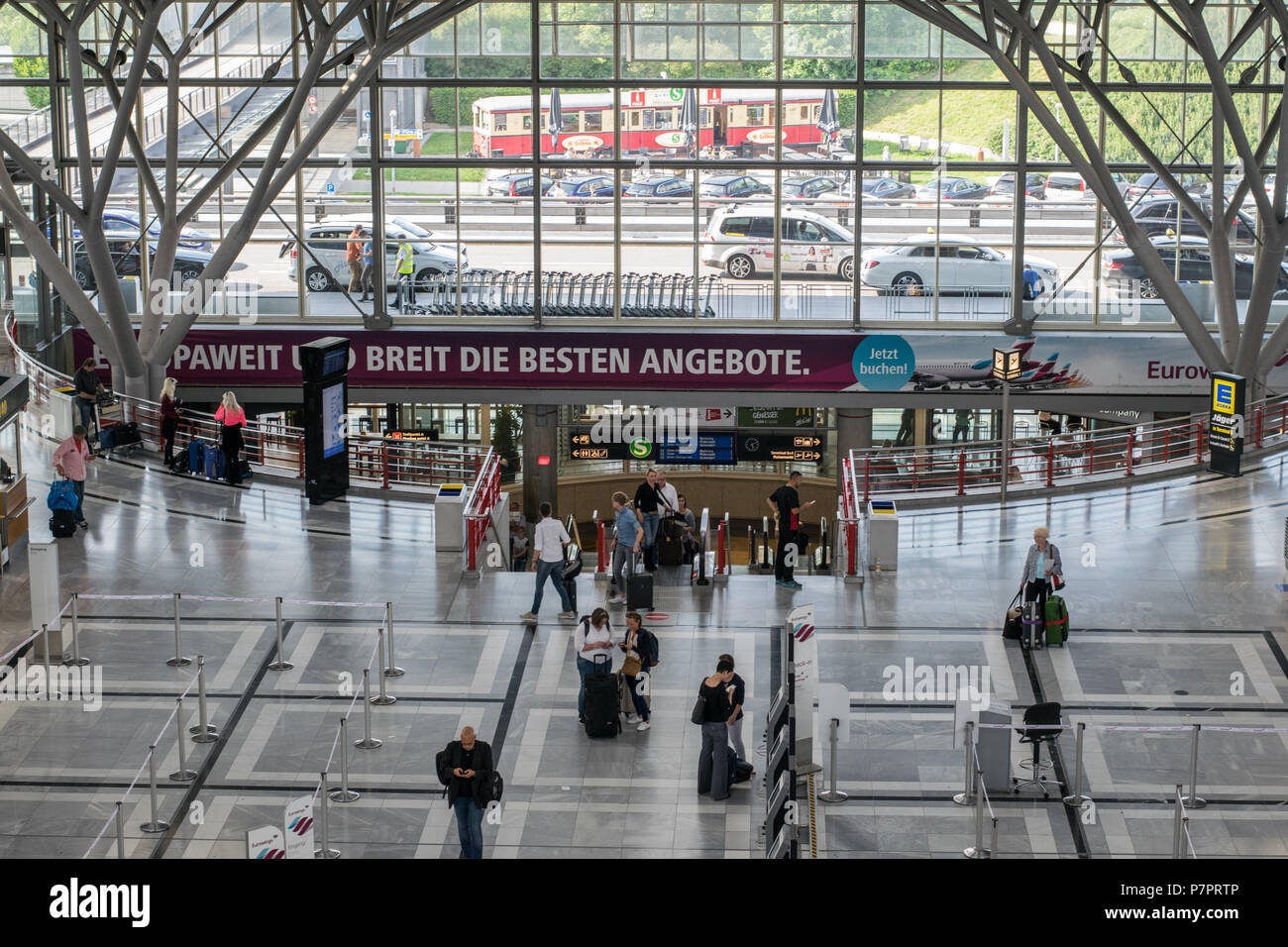terminal at stuttgart airport, germany - Stock Image