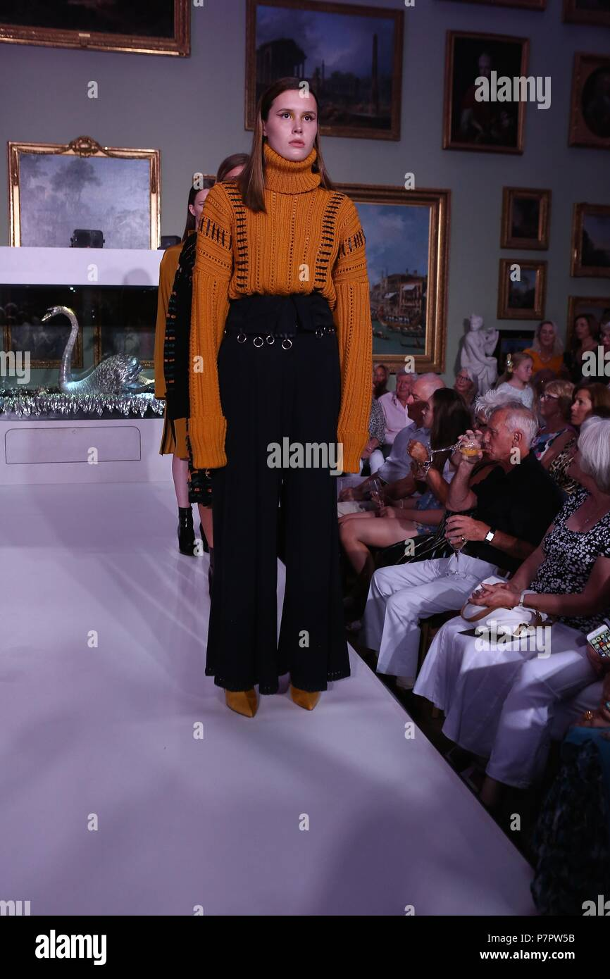 Chris More Catwalking Fashion Through the lens of Chris The Bowes Museum More - Stock Image