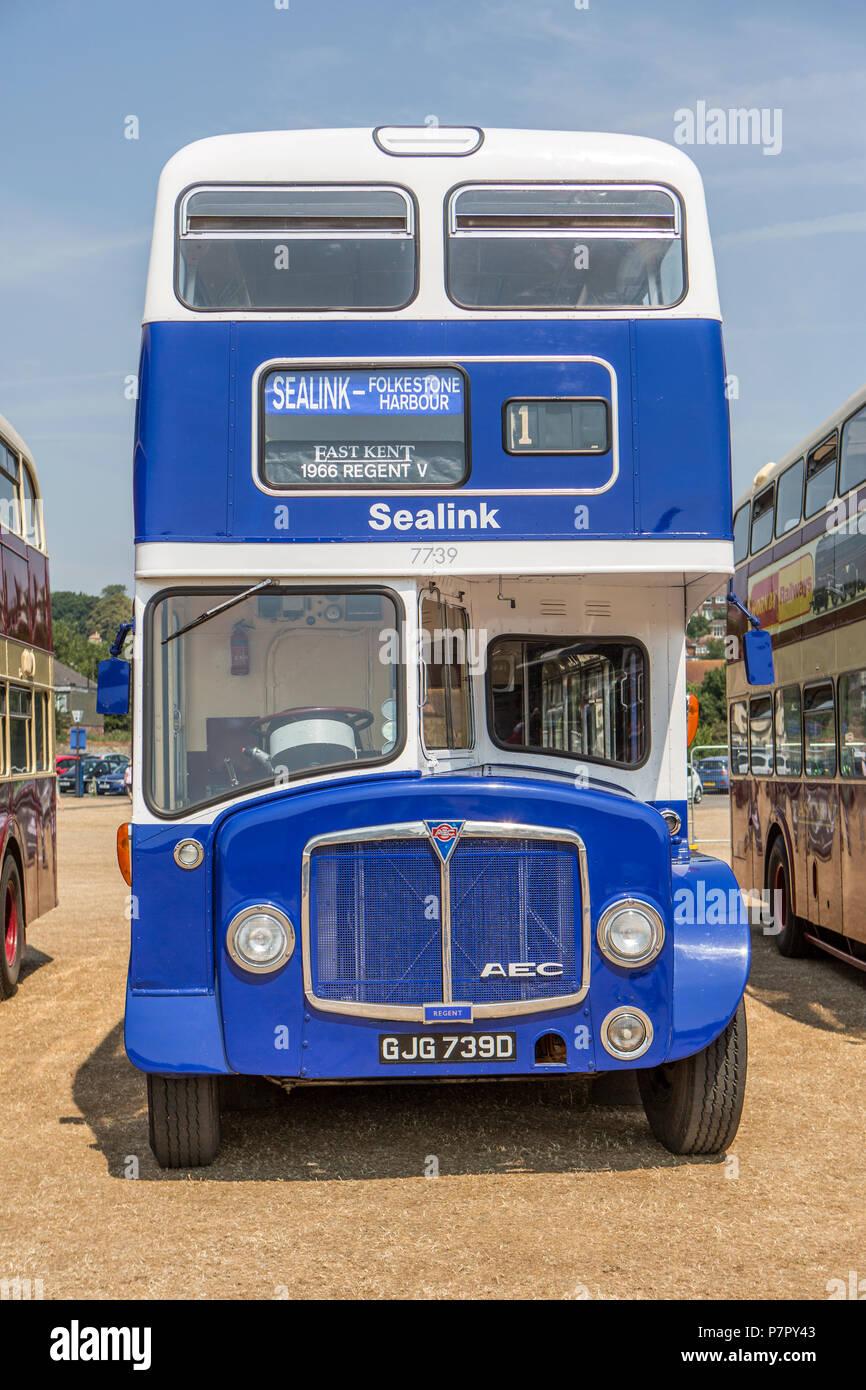 AEC Regent double decker bus - Stock Image