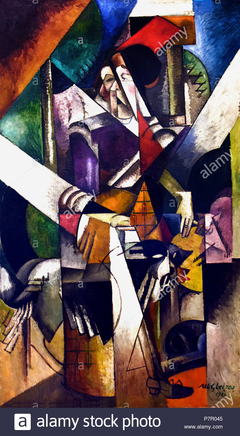 Albert Gleizes 1881-1953  Woman with animals 1914 France French - Stock Image