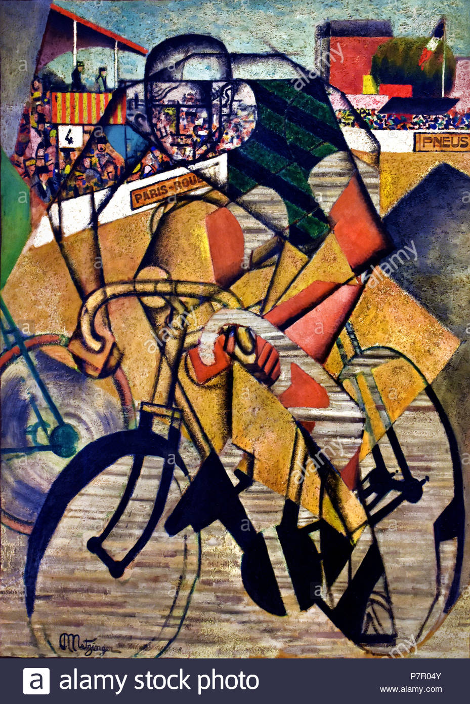 At the Cycle race track 1912 Jean Metzinger 1883 - 1956 France French - Stock Image