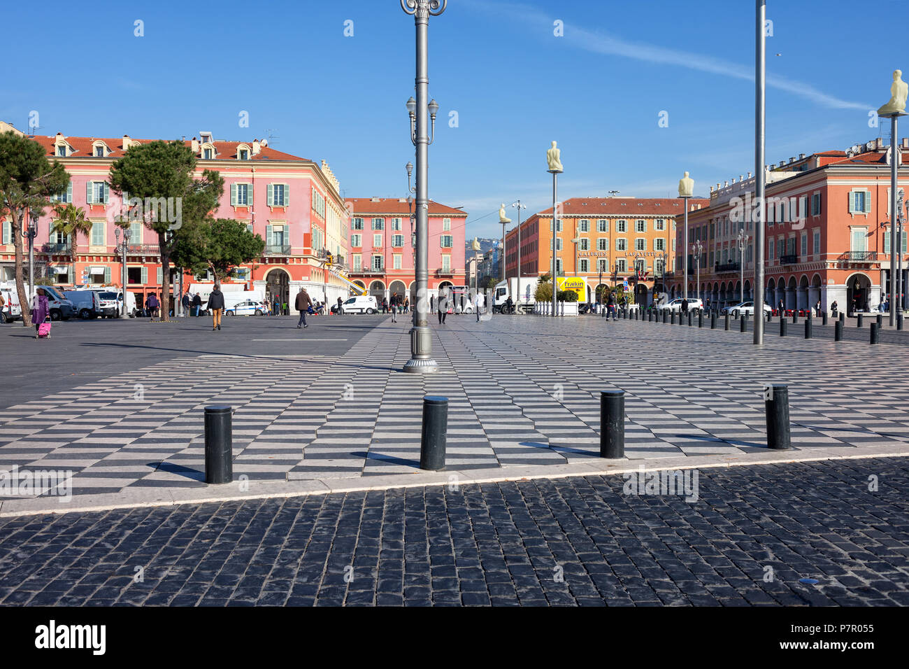 France, Nice, Place Massena, main square in the city center Stock Photo