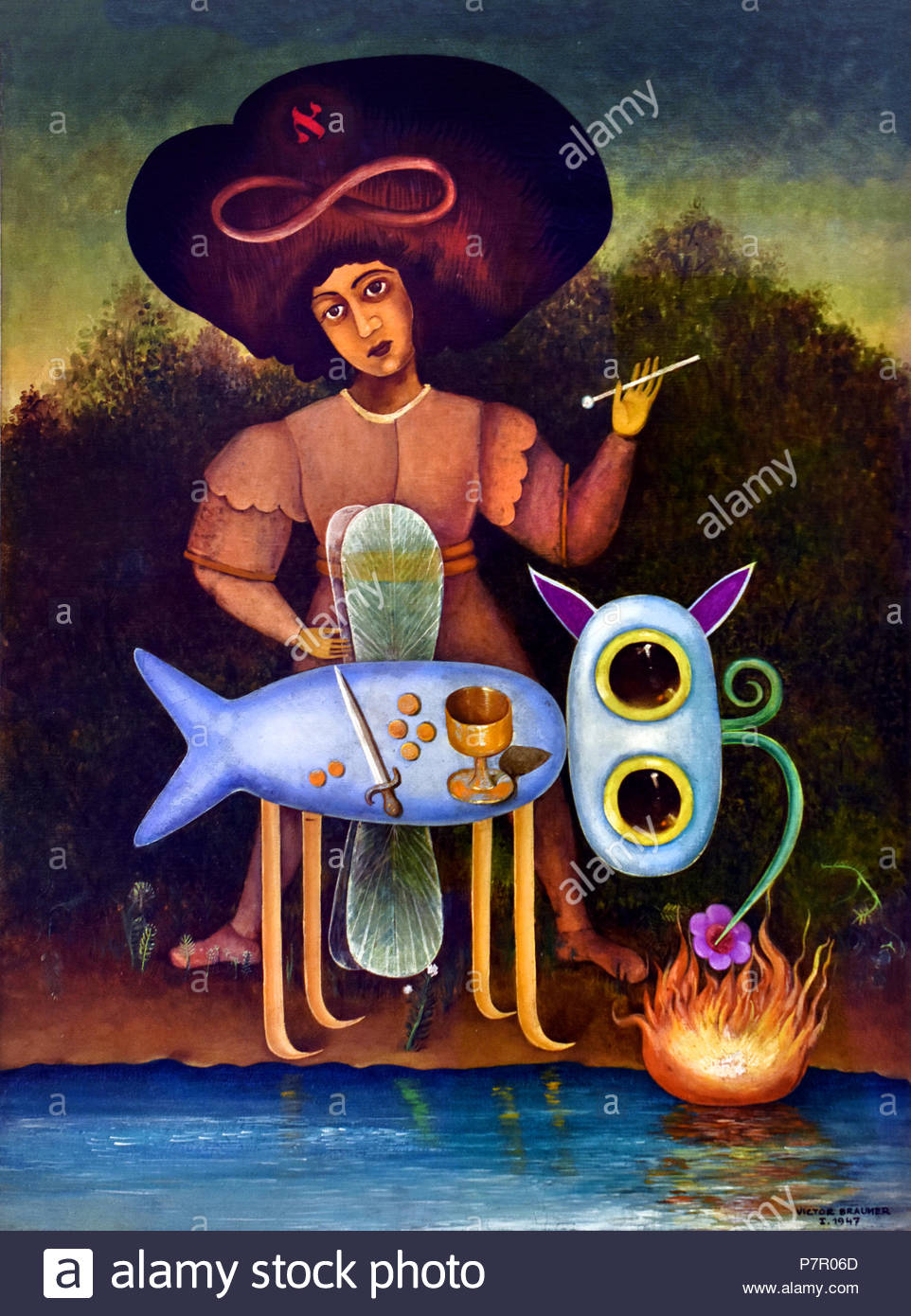 THe Surrealist 1947 by Victor Brauner 1903 1966 painter Romania Romanian - Stock Image