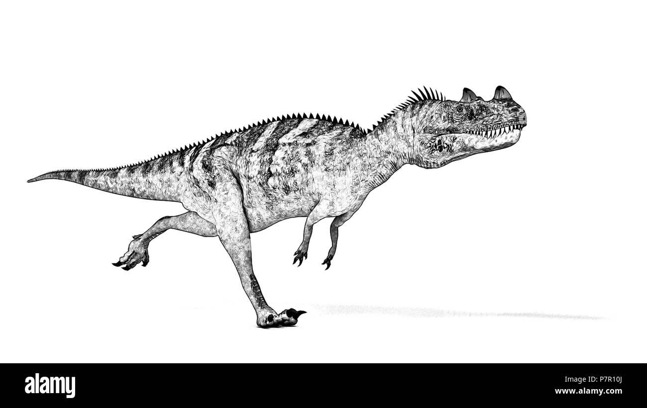 ceratosaurus - Stock Image