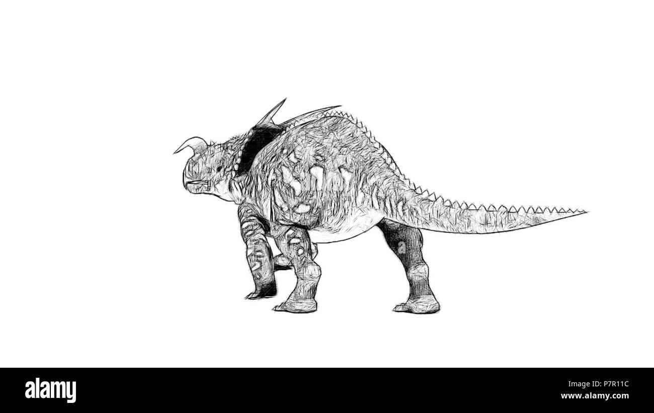 einiosaurus - Stock Image
