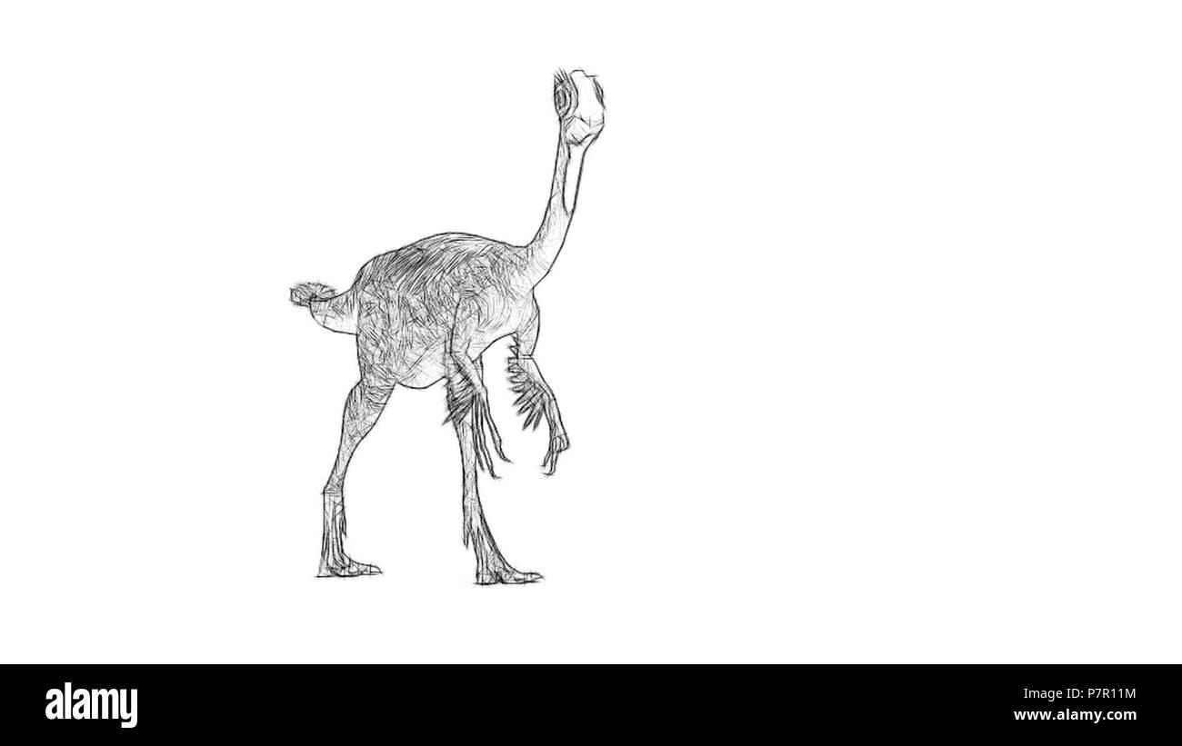 gigantoraptor Stock Photo