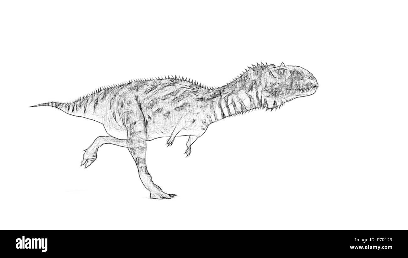 majungasaurus - Stock Image