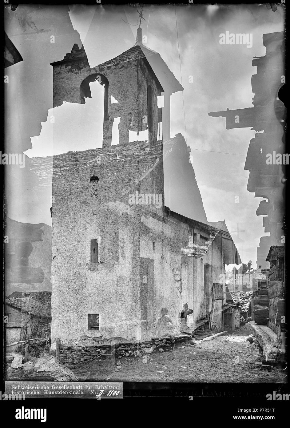 Saint Luc, vue partielle; Vue partielle du village de Saint Luc. between 1898 and 1907 80 CH-NB - Saint Luc, vue partielle - Collection Max van Berchem - EAD-7688 Stock Photo