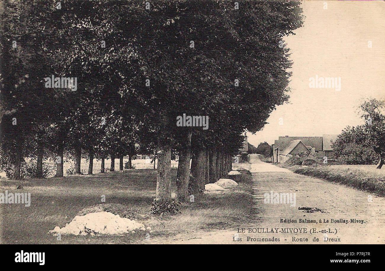 54 Boullay-Mivoye Les promenades Route de Dreux CO Hélène Eure-et-Loir (France) - Stock Image