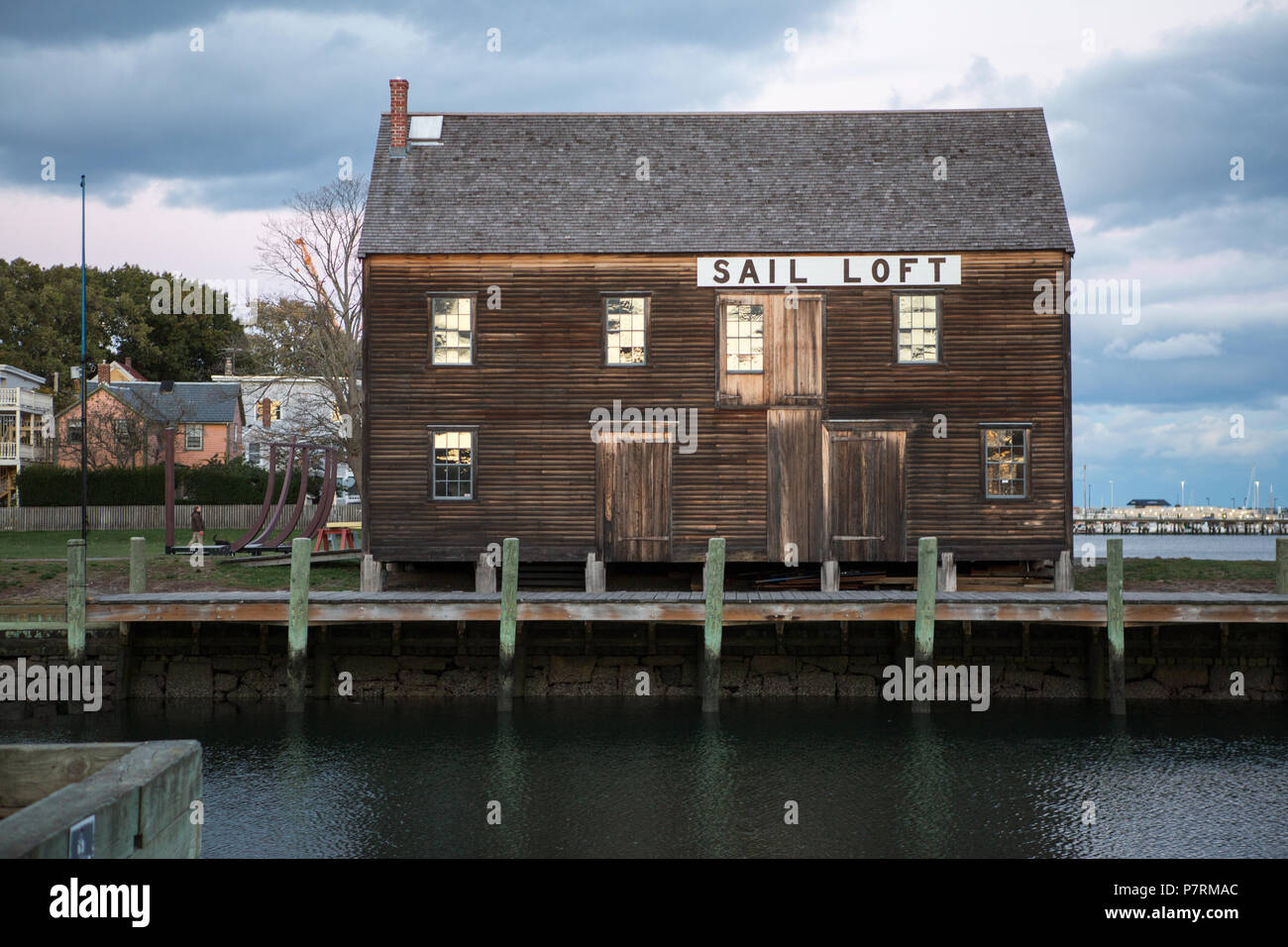 Loft in the port of Salem, Massachusetts - Stock Image