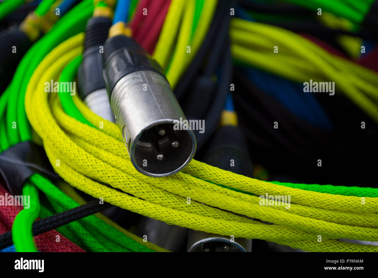 audio xlr cable network with a variety of colors stock photo rh alamy com