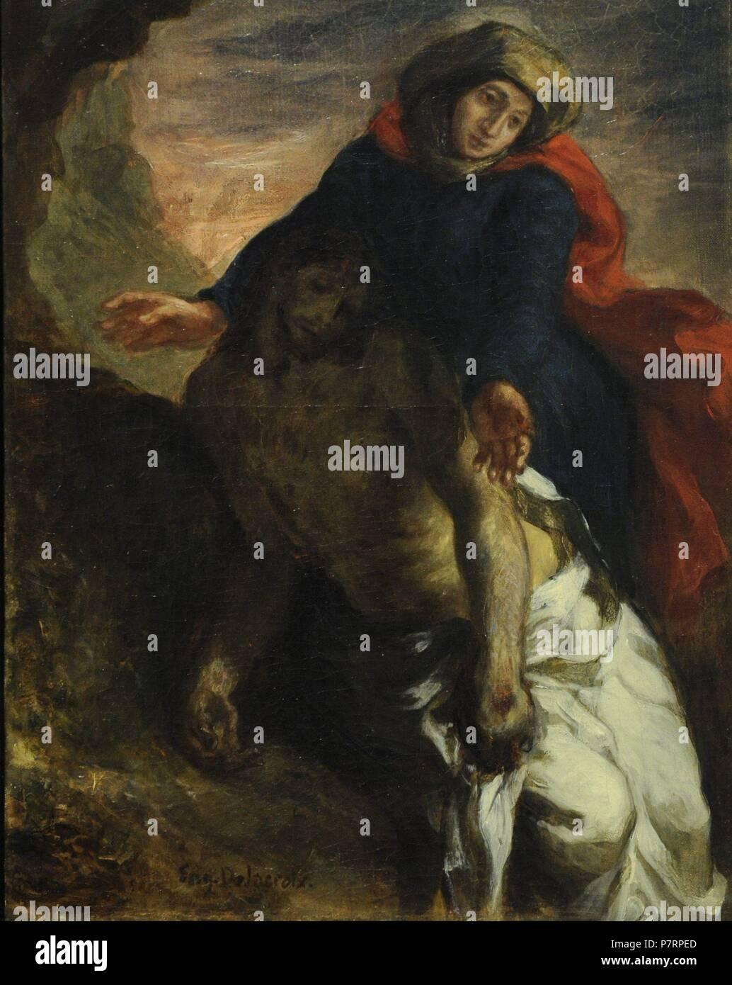 Eugene Delacroix (1798-1863). French painter. Pieta, 1850. National Museum. Stockholm. Sweden. Stock Photo