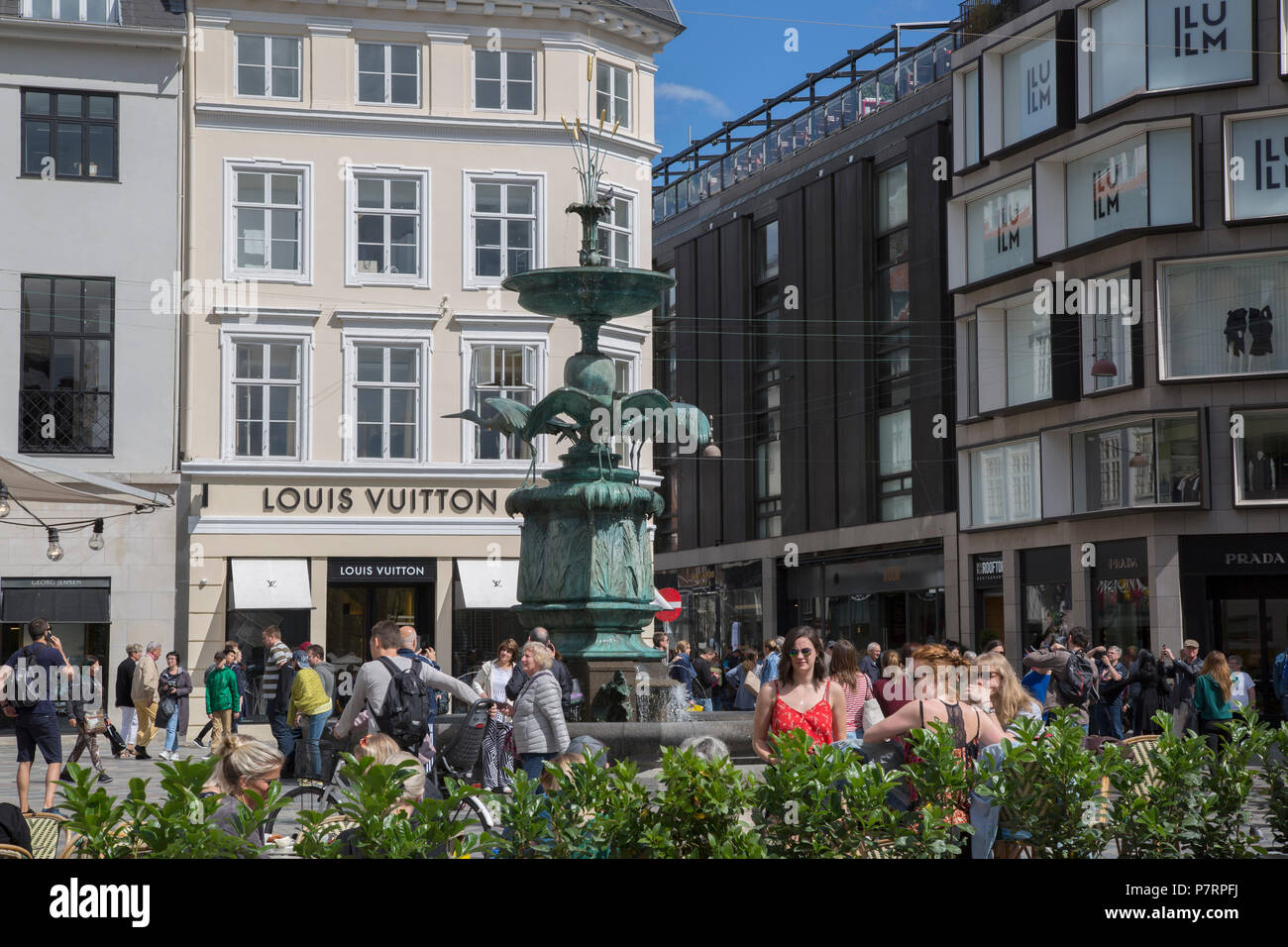 Stork Fountain; Copenhagen; Denmark - Stock Image
