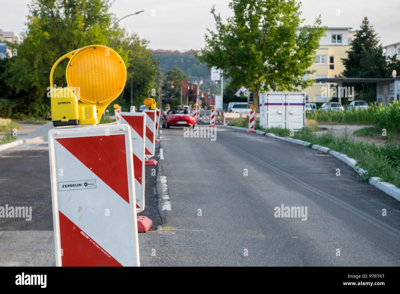 Baustelle in Gerlingen, Deutschland - Stock Image