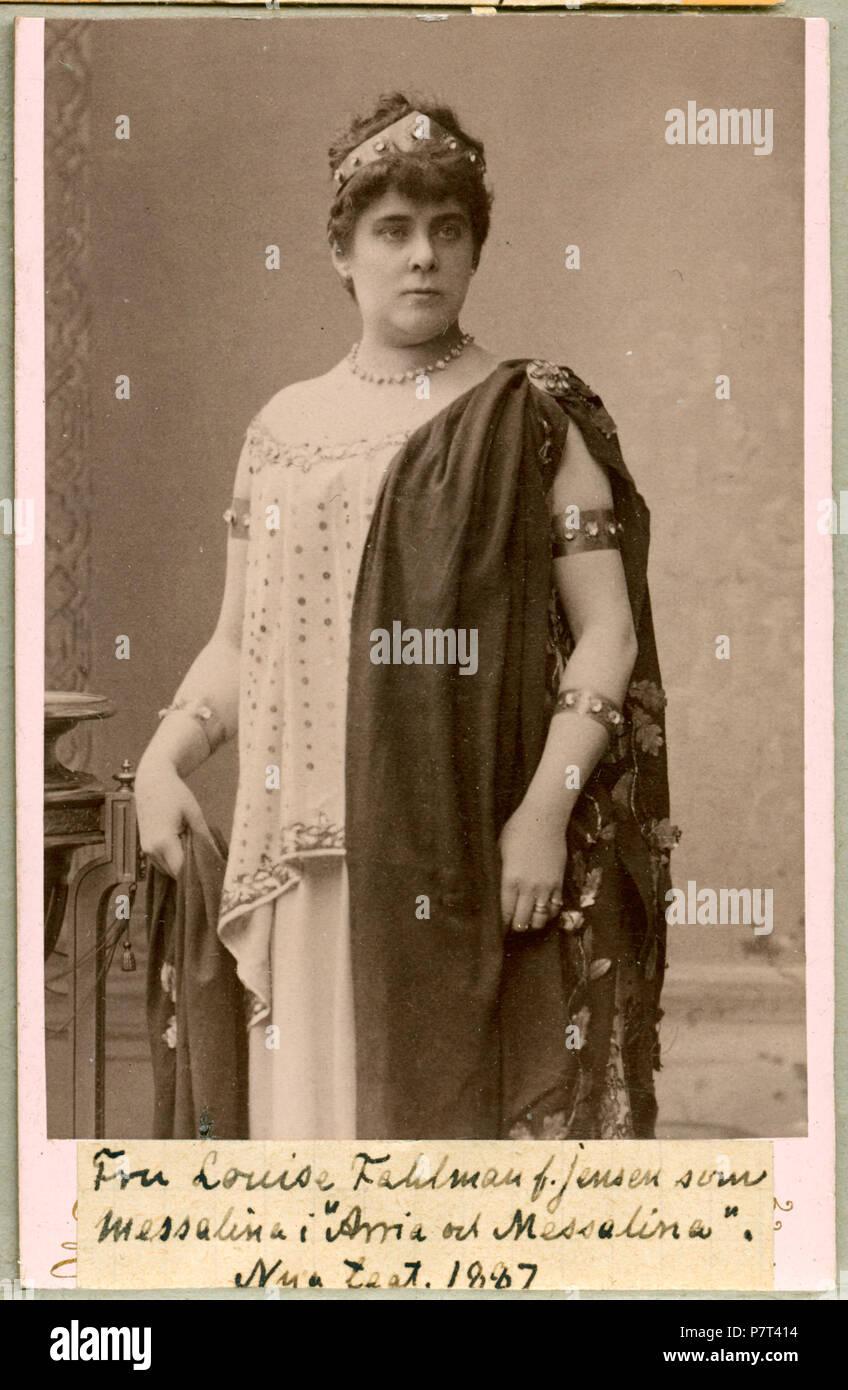 Louise Fahlman som Messalina i Arria och Messalina, Nya teatern 1887 250 Louise Fahlman, rollporträtt - SMV - H3 025 Stock Photo