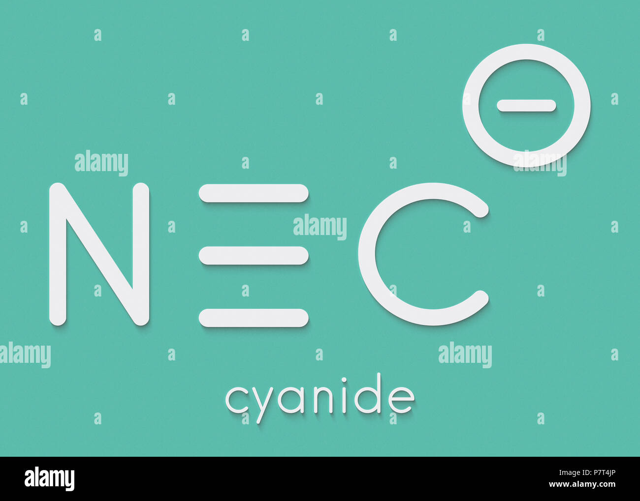 Cyanide Anion Chemical Structure Cyanides Are Toxic Due To