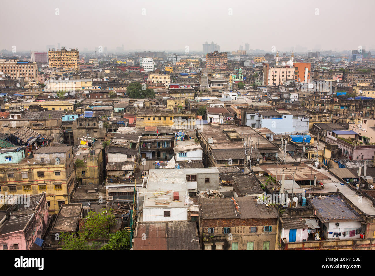 Roofs of the Kolkata city, West Bengal, India. - Stock Image