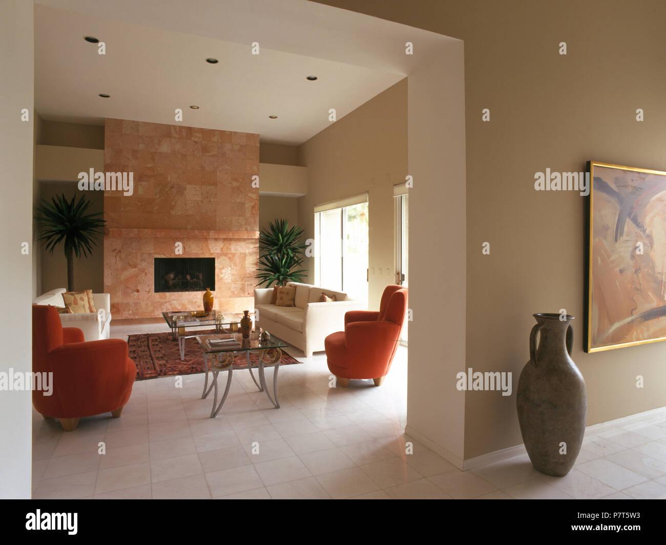 L Anfora Rattan Amphoren Lounge.Open Plan Living Room In Stock Photos Open Plan Living Room In