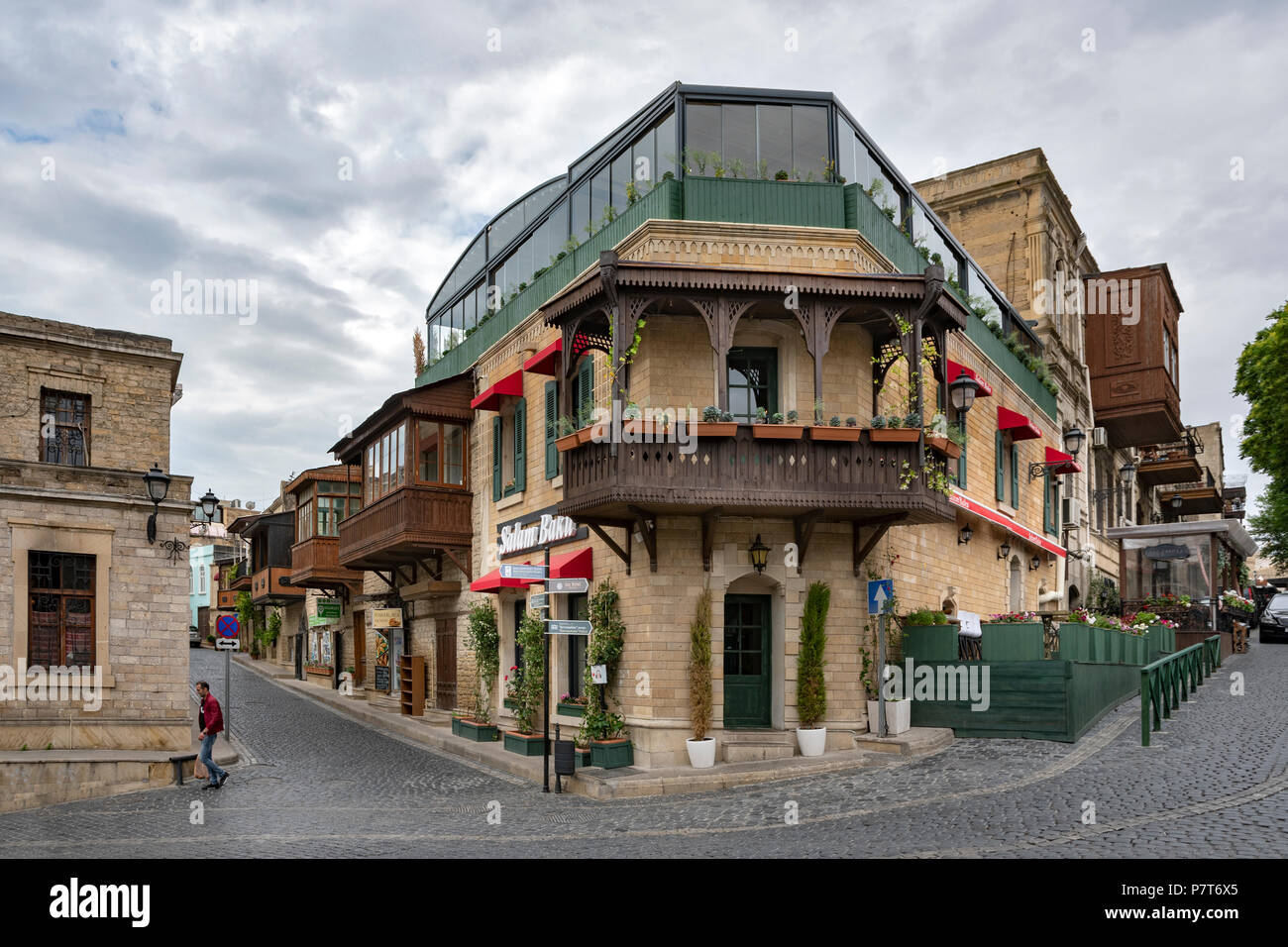 Icheri Sheher, Ichari Shahar, Inside the Old City of Baku ,Azerbaijan - Stock Image